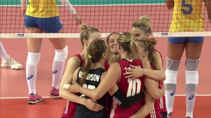 Melhores momentos: Estados Unidos 3 x 1 Brasil pela Liga das Nações de vôlei feminino