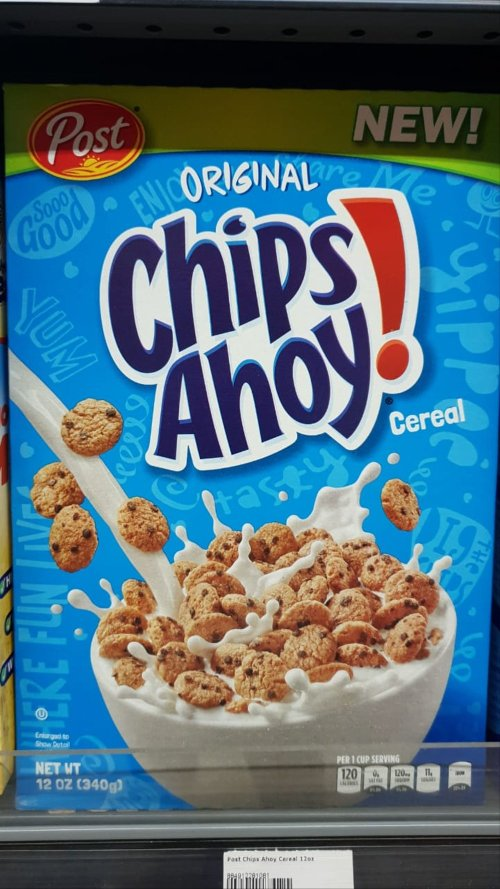 Medium Of Chips Ahoy Cereal