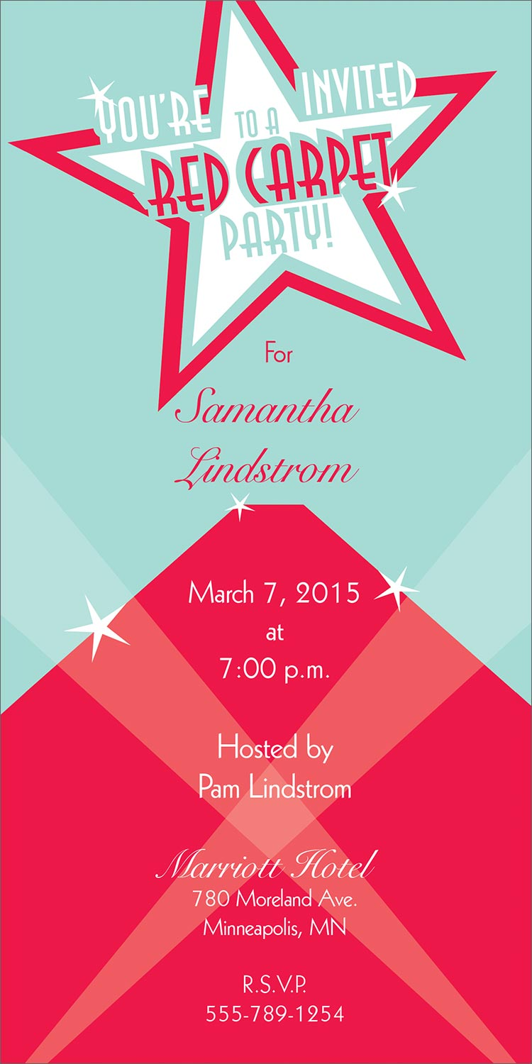 red party invitations