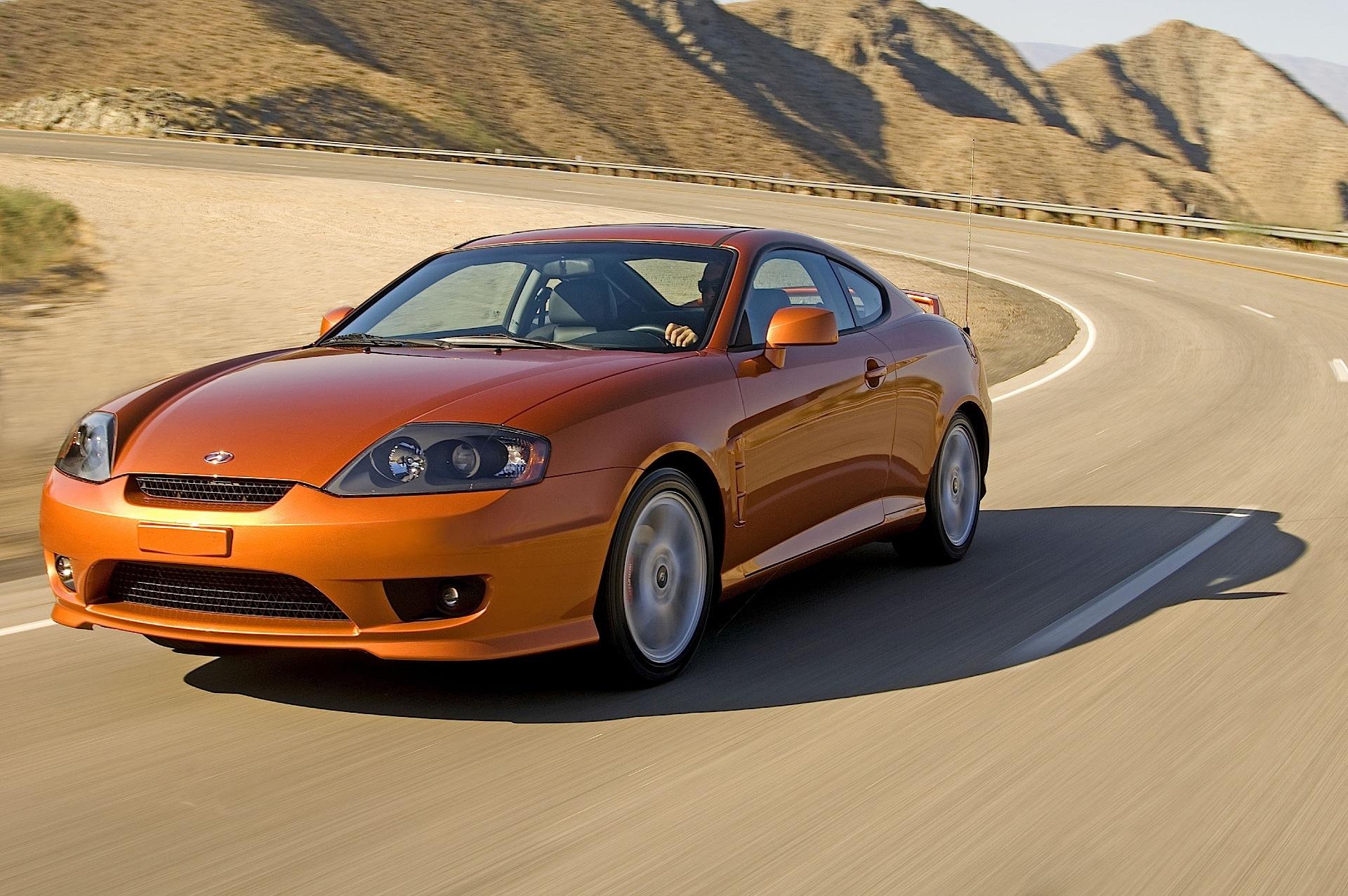 Green Car Modification Wallpaper Hyundai Coupe Tiburon 2004 2005 2006 2007