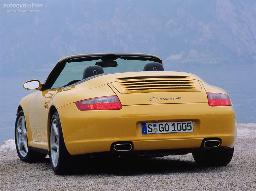 Stylish Car Wallpaper Porsche 911 Carrera 4 Cabriolet 997 Specs 2005 2006