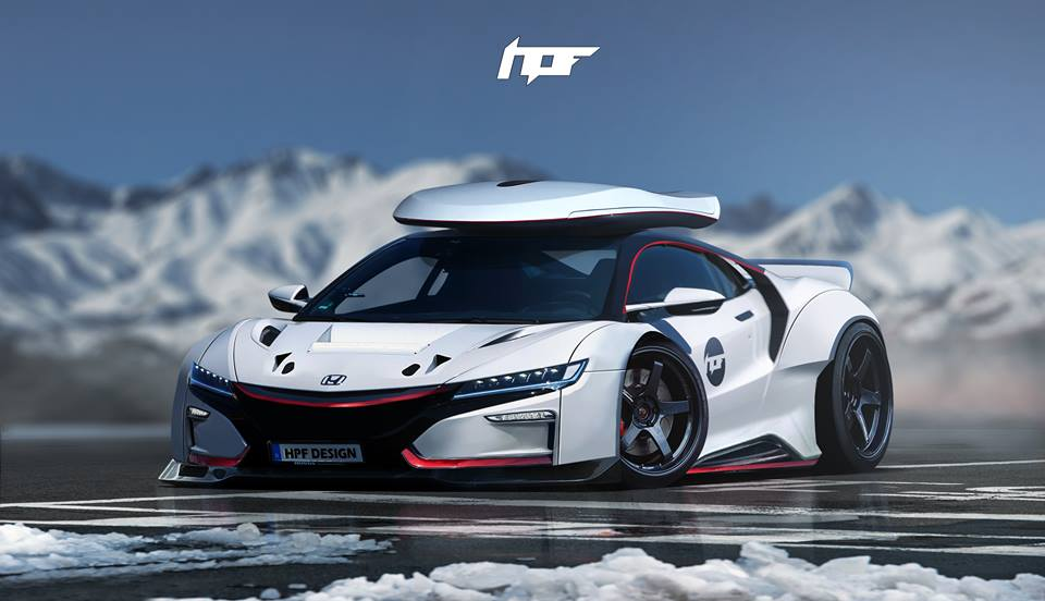 Wicked Car Wallpapers 2017 Acura Nsx Gets Widebody Kit And Roof Box In Brutal