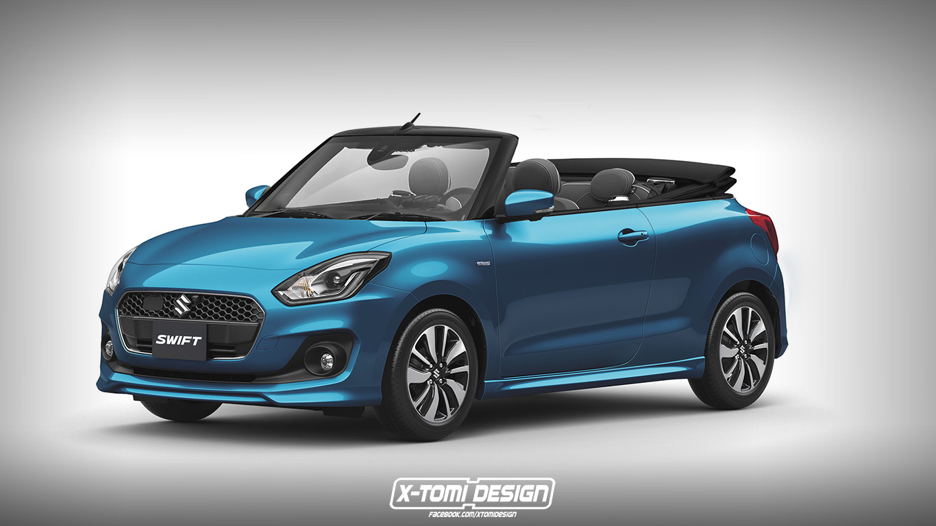 But Convertible 2017 Suzuki Swift Cabrio Rendering Is Cute But It S Wrong