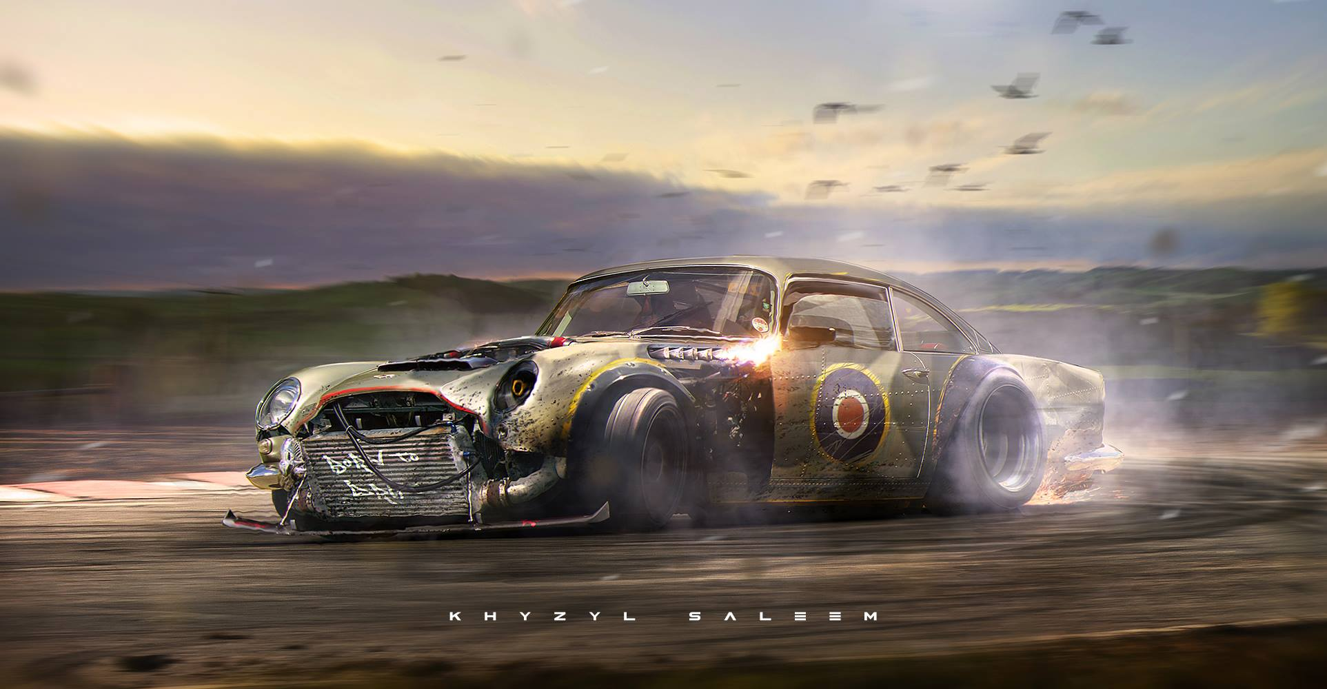 4k Wallpapers Exotic Super Sports Cars Aston Martin Db5 Becomes Supermarine Spitfire That Drifts