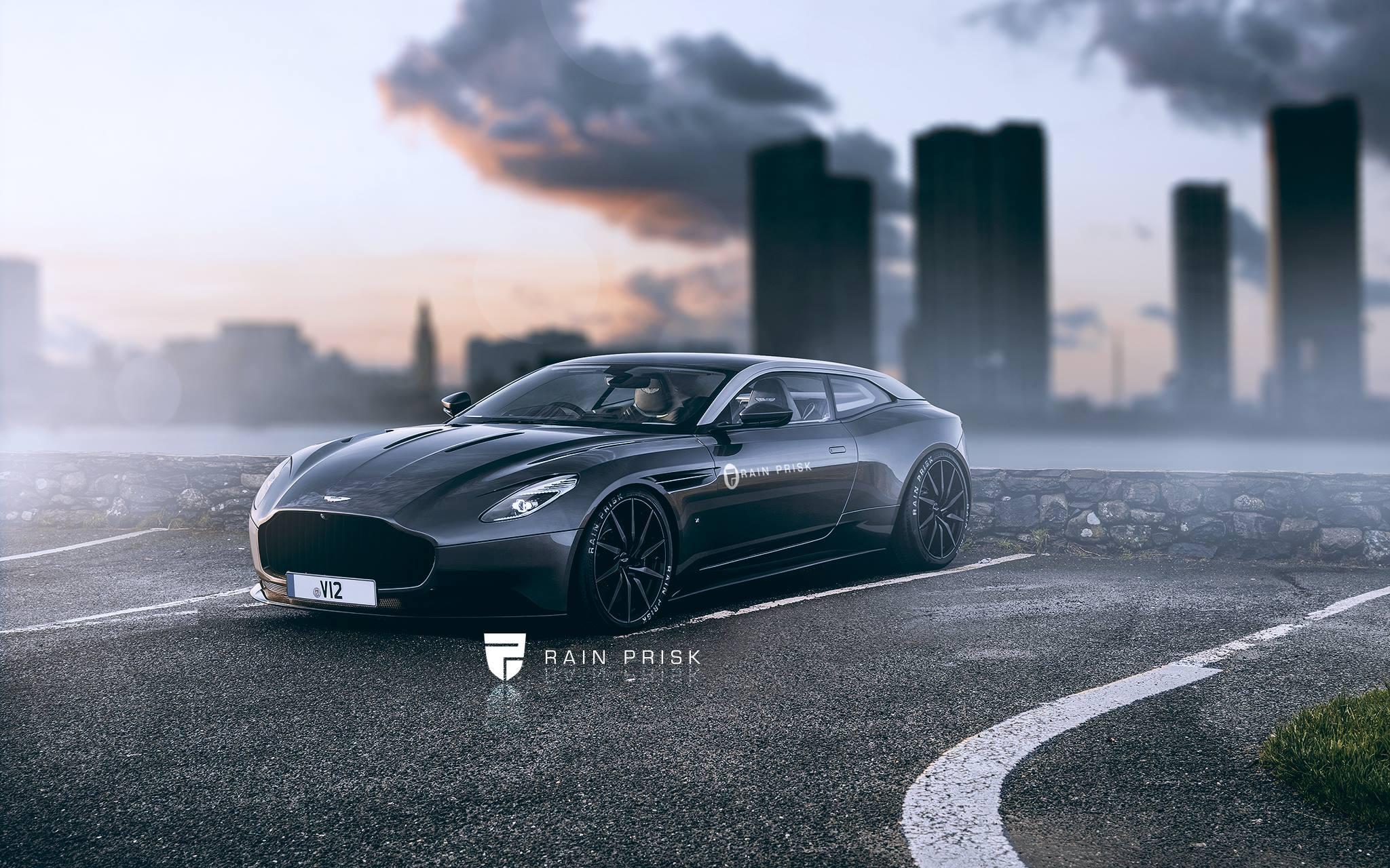Ken Block Cars Wallpaper Aston Martin Shooting Brake Rendered The Ferrari