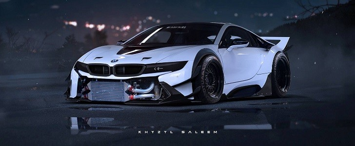 Hd Drift Car Wallpapers 1920x1080 Bmw I8 Rendered As Proper Race Car Autoevolution