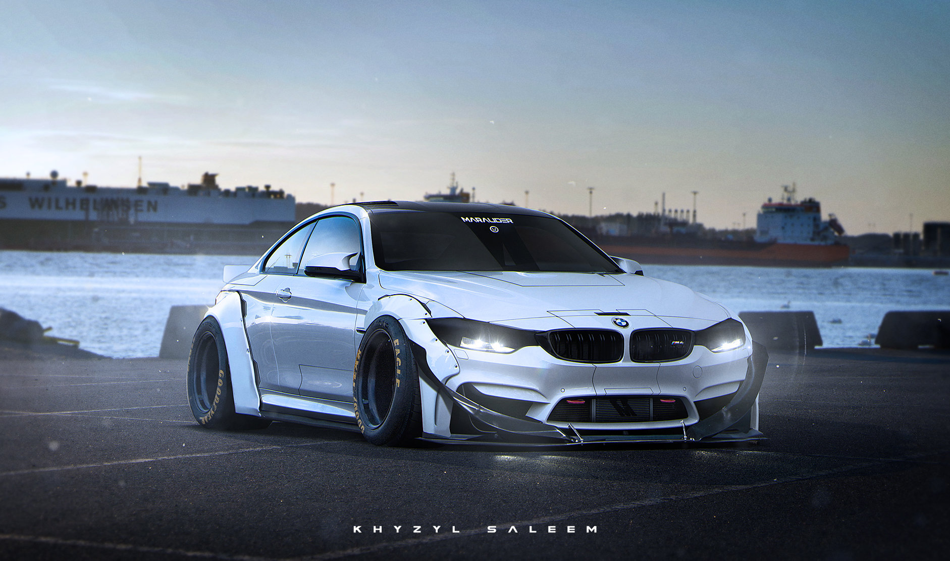 Car Wallpaper For Computer Put On Now Bmw M4 Marauder Rendering Looks Like An Asimov Creation