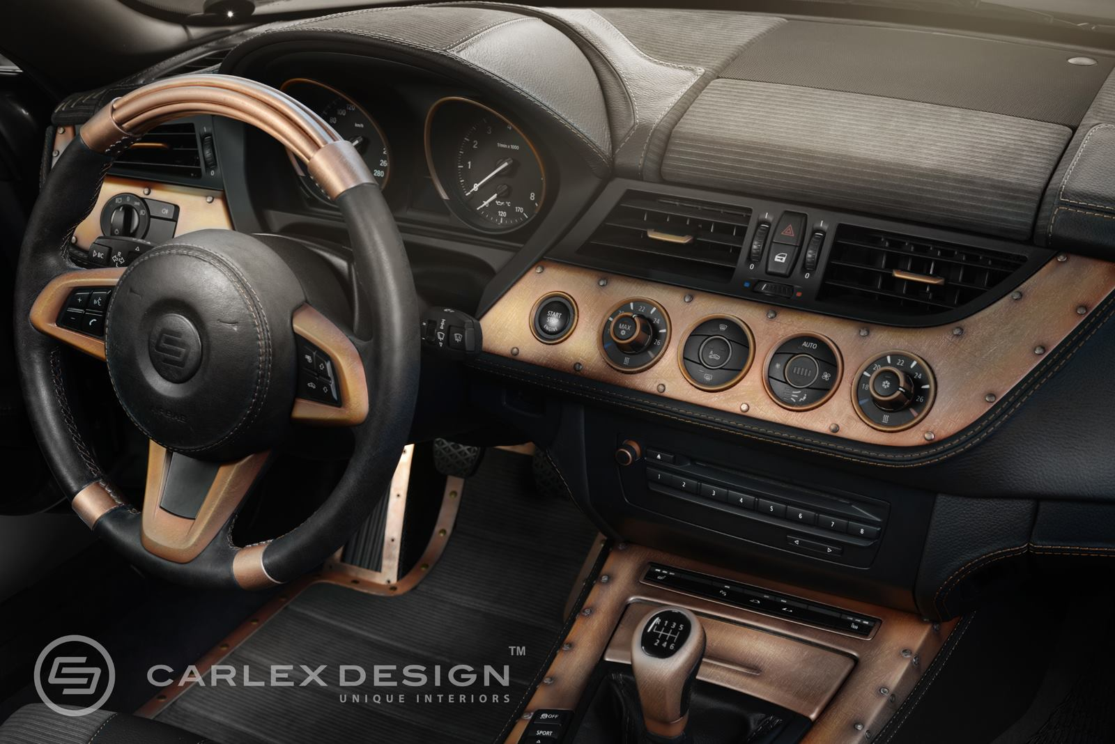 Copper Interior Design Bmw Z4 Streampunk Interior Is Packed With Copper Plated