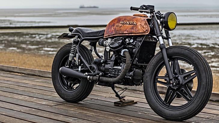Royal Enfield Cafe Racer Hd Wallpaper Custom Rusty Honda Cx500 By Robinsons Speed Shop