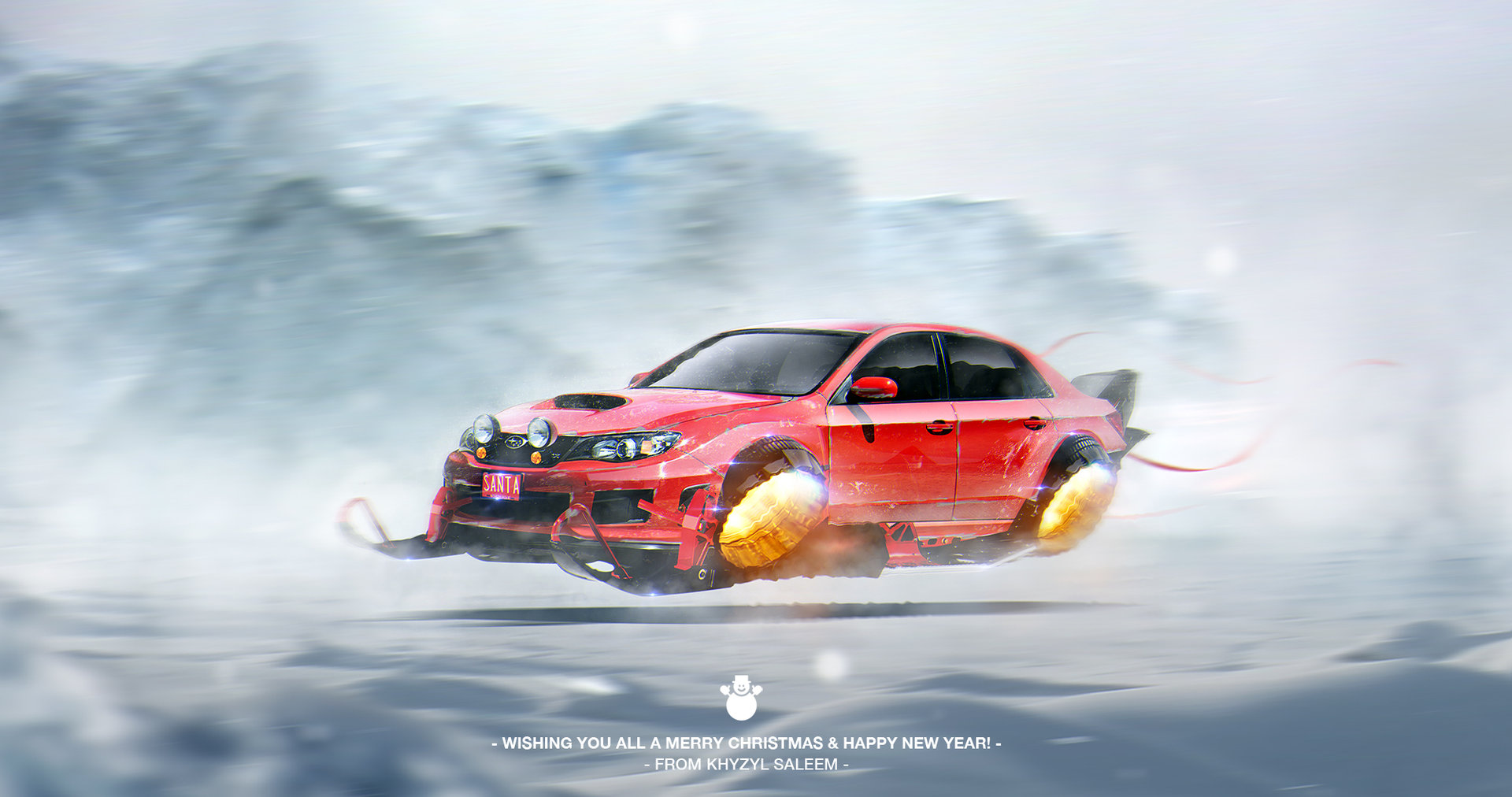 Audi Sports Car Wallpaper Cyberpunk Subaru Impreza Wrx Sti With Jets Is What Santa