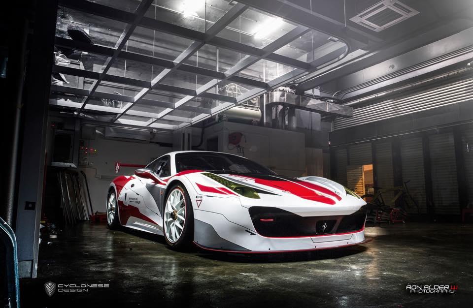 Tuning Cars Wallpapers Hd Ferrari 458 Challenge Race Car By Impressive Wrap Hong