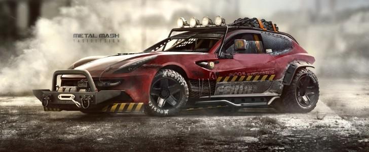 Turbo Car Wallpaper Hd Ferrari Ff Metal Mesh Looks Like It Could Survive Jurassic