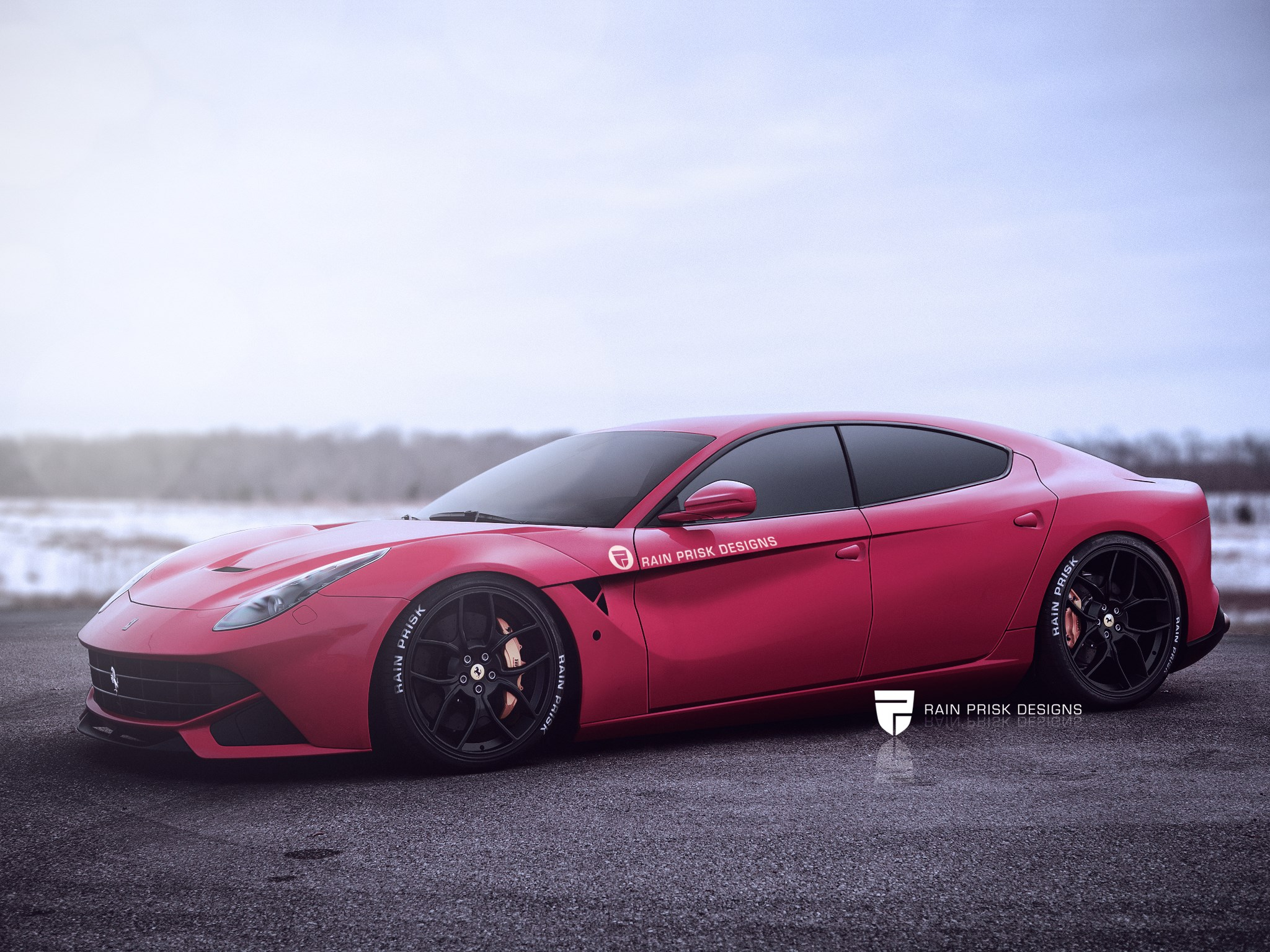 Rally Car Wallpaper Snow Four Door Ferrari F12 Rendering Is Ready To One Up The