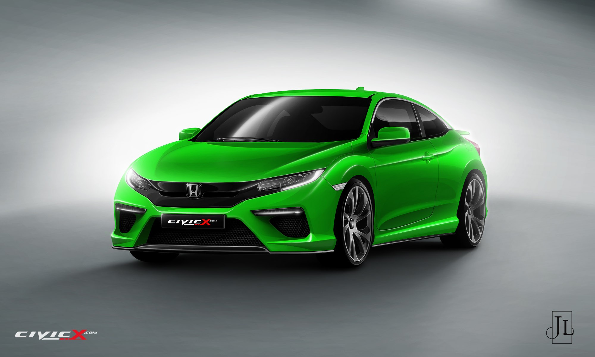 Speed And Sound Cars Wallpapers 2017 Honda Civic Coupe Rendered In Vanilla And Super Hot