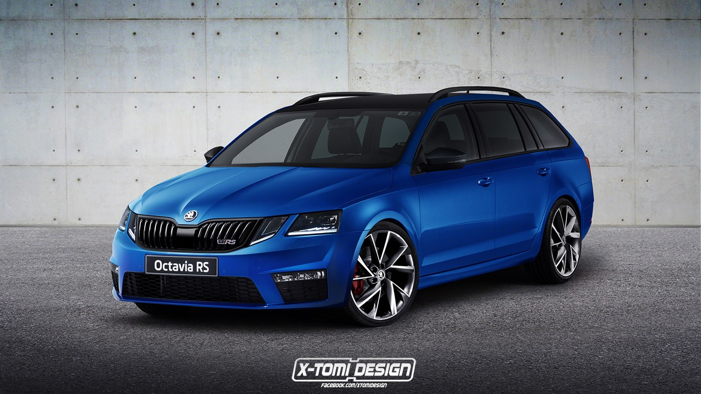 Skoda Octavia S 2017 Skoda Octavia Rs Facelift Rendering Is Ugly To The