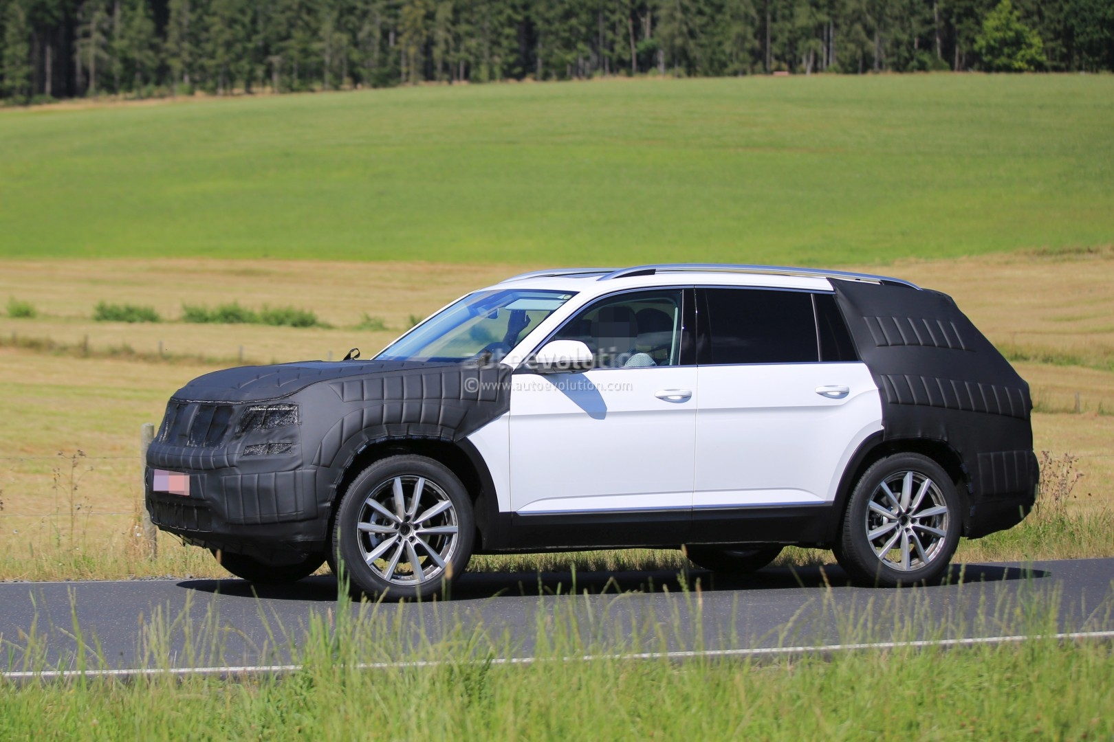 7 Seater 2017 Volkswagen 7 Seater Us Market Suv Spied Testing Its