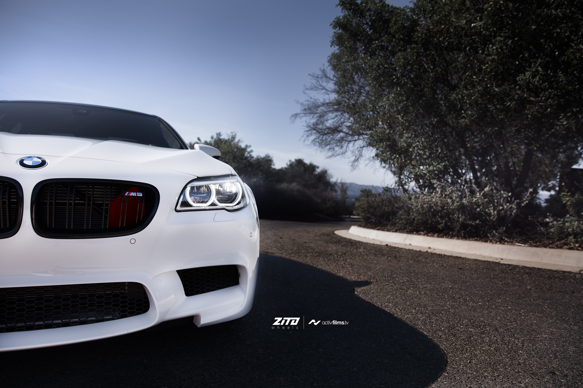 Car Tuning Wallpaper Hd Alpine White Bmw F10 M5 On Zito Wheels Is Gorgeous