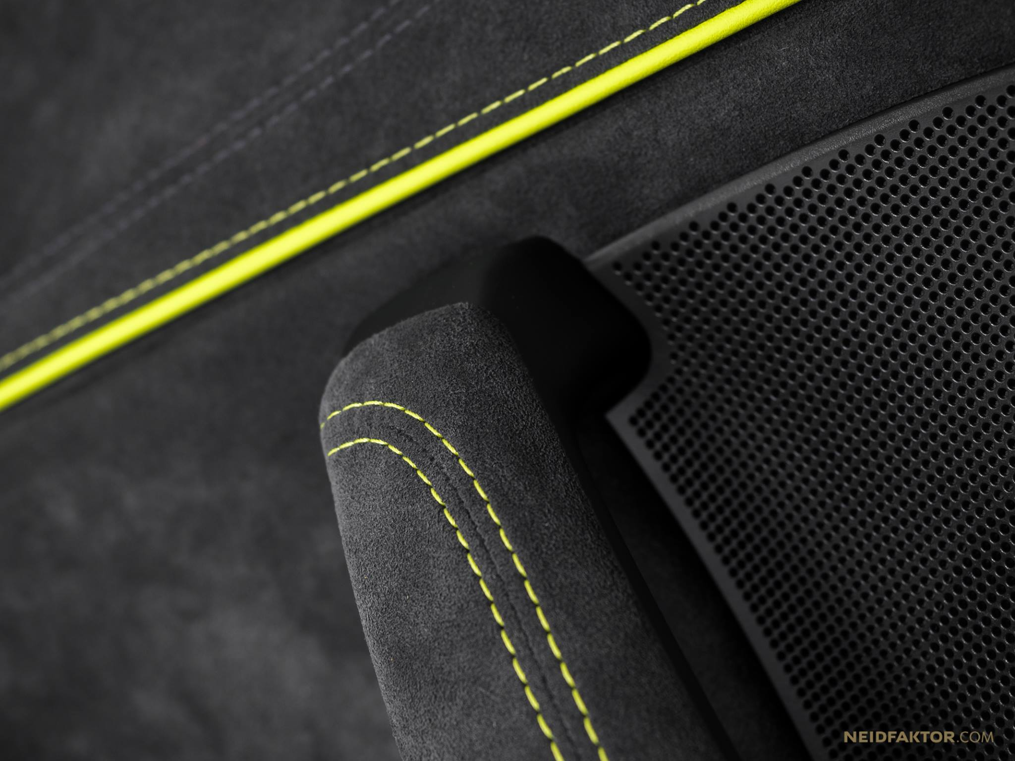 Neon Car Theme Wallpaper Audi Rs3 Interior By Neidfaktor Neon Yellow Alcantara