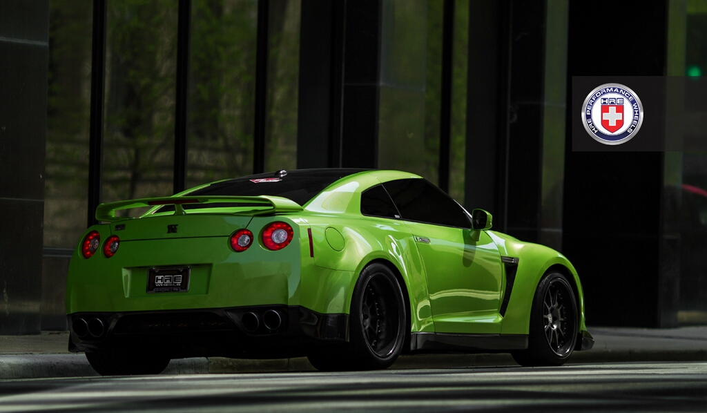 Lamborghini Car Logo Wallpapers Awesome Green Gt R With Widebody Kit Autoevolution