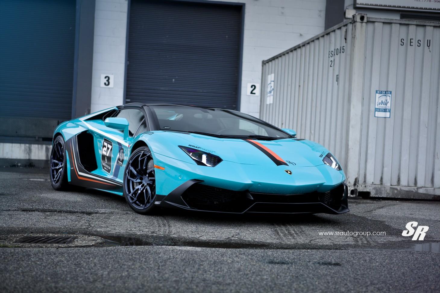 Exotic Hd Car Wallpapers Baby Blue Lamborghini Aventador Gets Pur Wheels Lp720