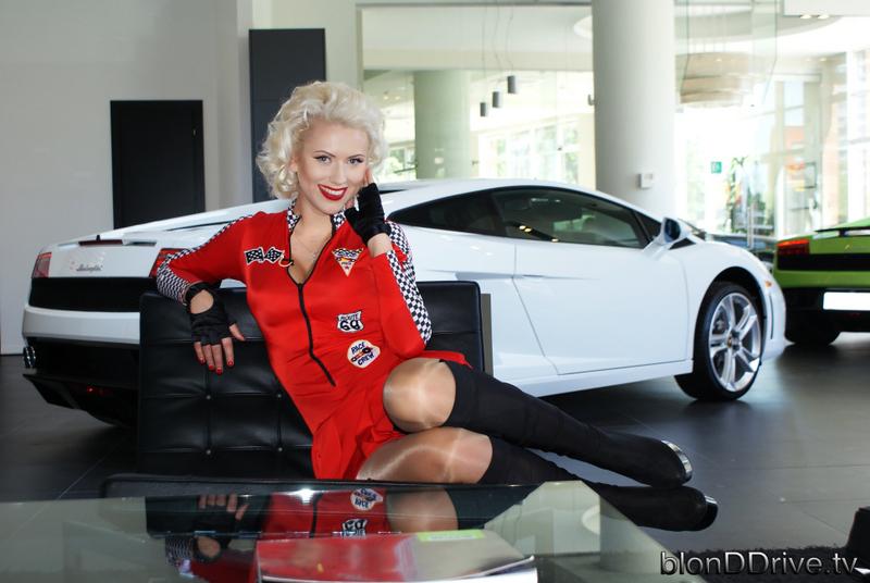 Car Throttle Wallpaper Blond Drive Lamborghini Gallardo Test With Subtitles