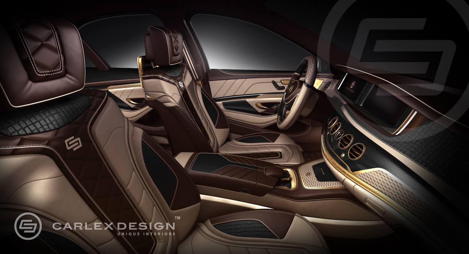S Design Interieur Carlex Mercedes S Class Interior 24k Gold And Crocodile
