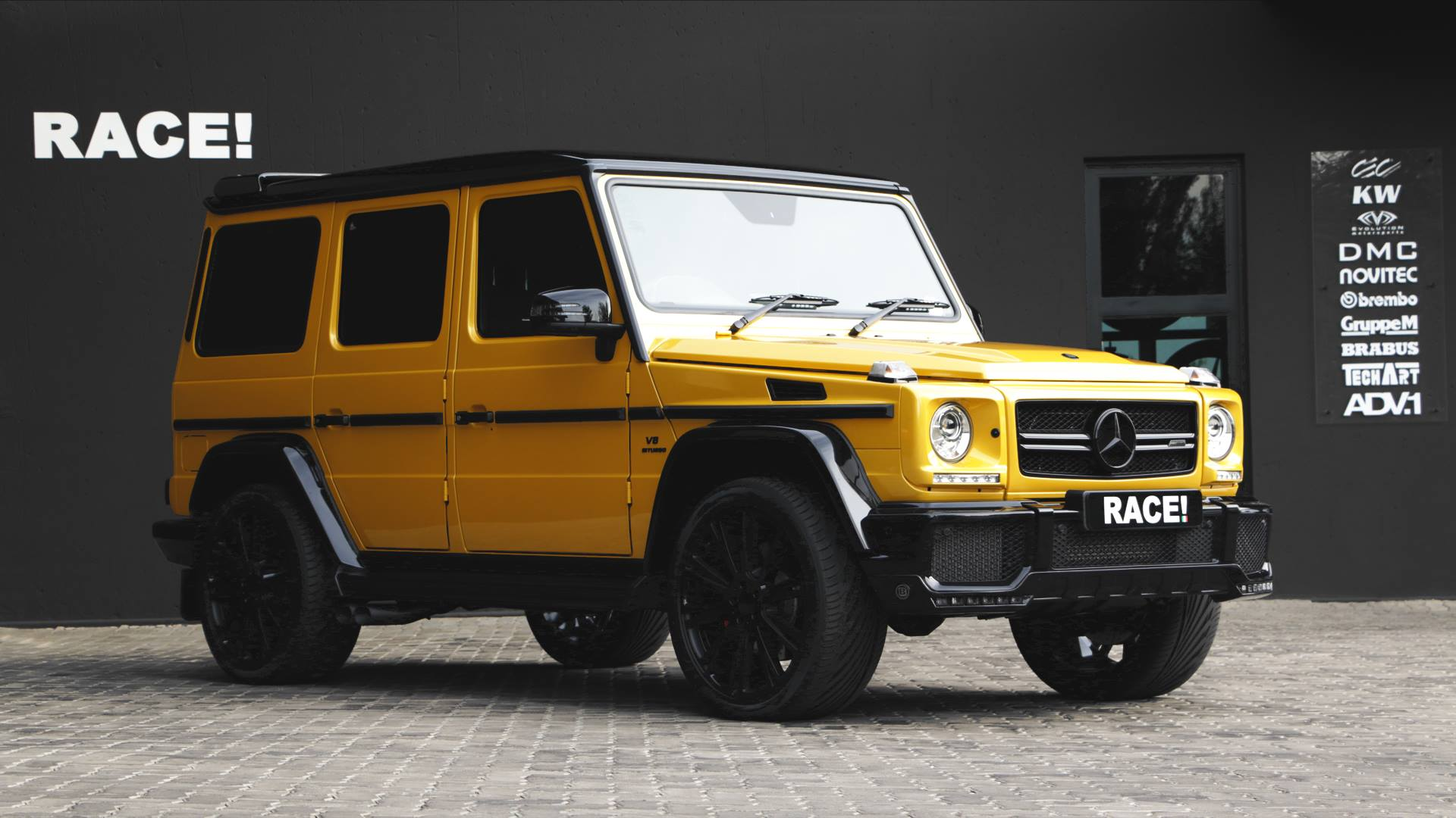 Gt Race Car Wallpaper Crazy Color Yellow G63 Amg With Brabus Parts By Race