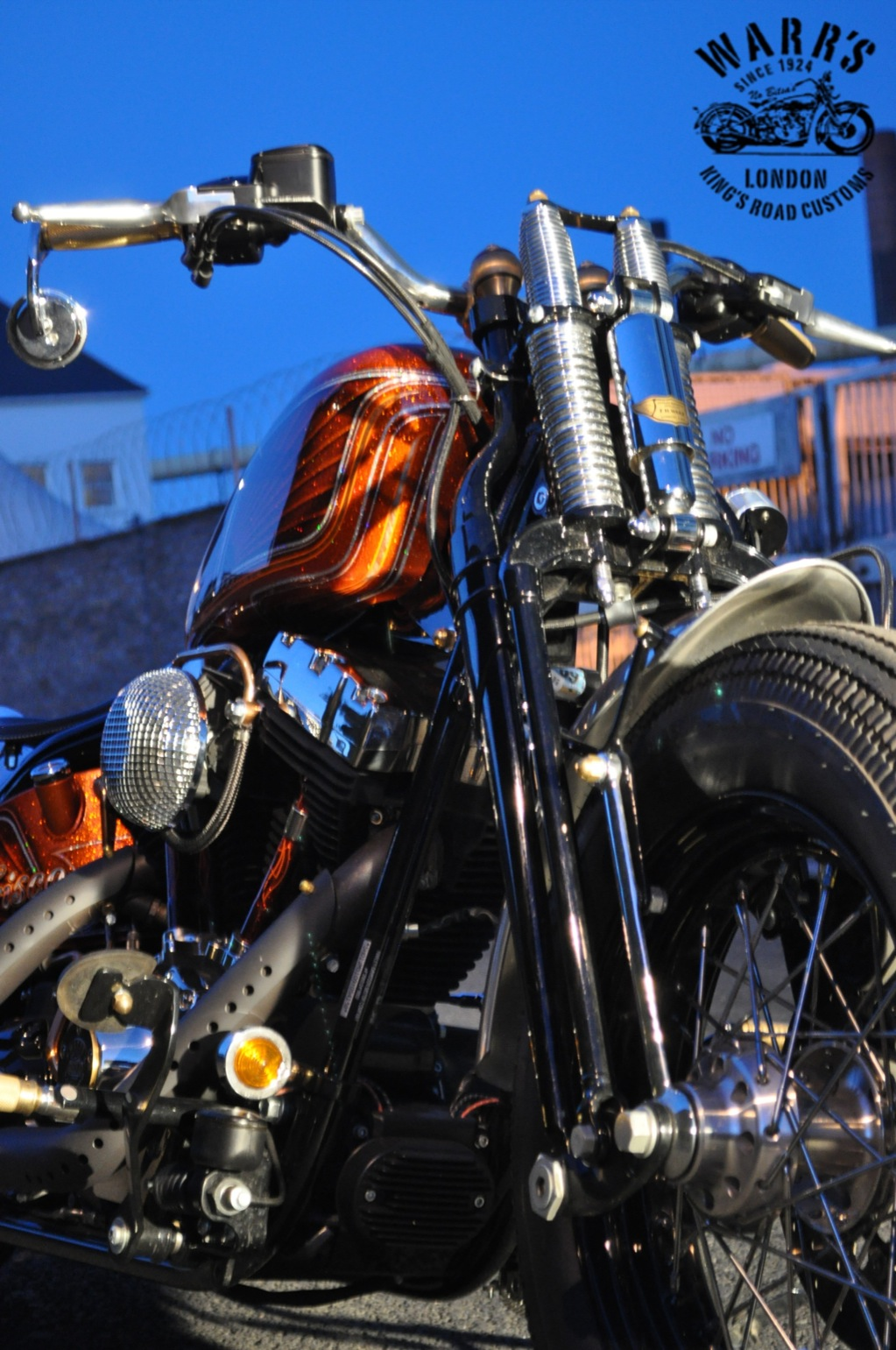 A Car Automotive Custom Harley-davidson Crossbones Baptized Frisco Bobber