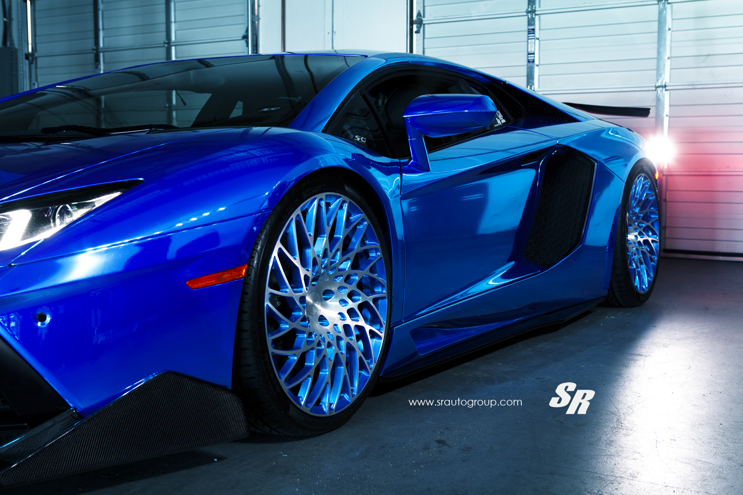Electric Blue Wallpaper Hd Electric Blue Aventador Gets Outrageous Pur Disc Style
