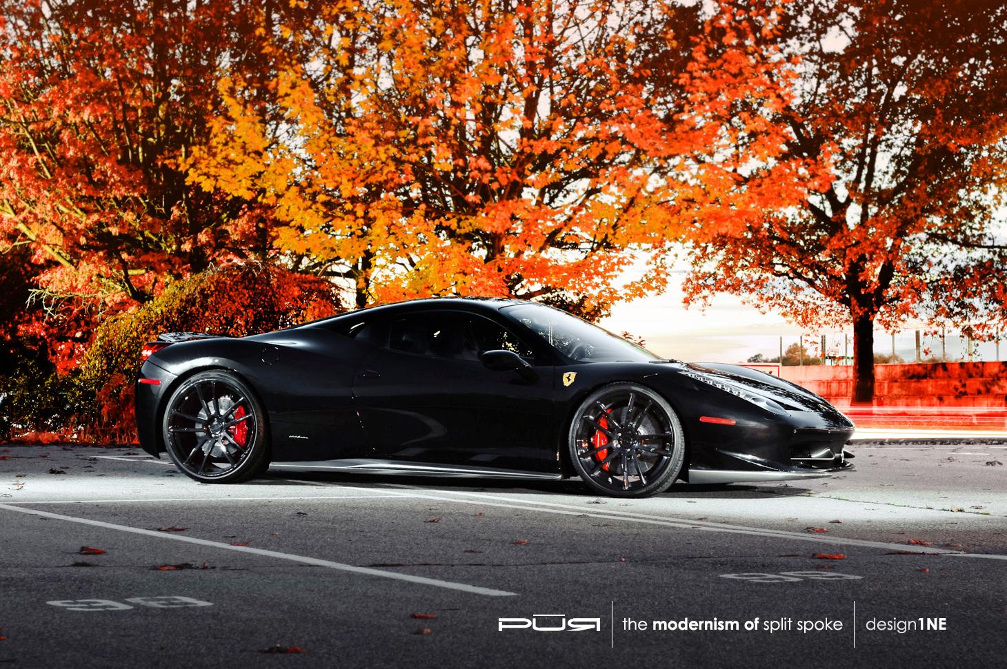 Car Black Wallpaper Vertical Ferrari 458 Italia Rides On Pur Wheels Autoevolution