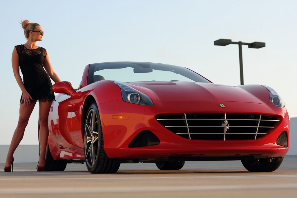 Corvette Girl Wallpaper Ferrari California T And Sexy Blonde Create Modern Pinup