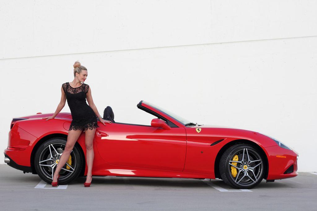 Pin Up Girl Home Wallpaper Ferrari California T And Sexy Blonde Create Modern Pinup