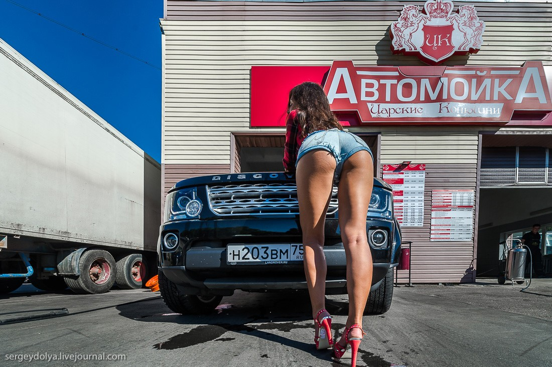 Girls Profile Wallpaper How To Wash A Land Rover Using A Fit Russian Brunette