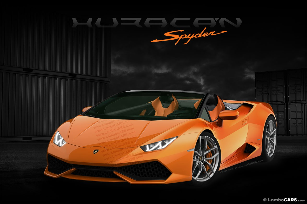 Black Removable Wallpaper Lamborghini Huracan Spyder Roof Opening Gif Is Enjoyable