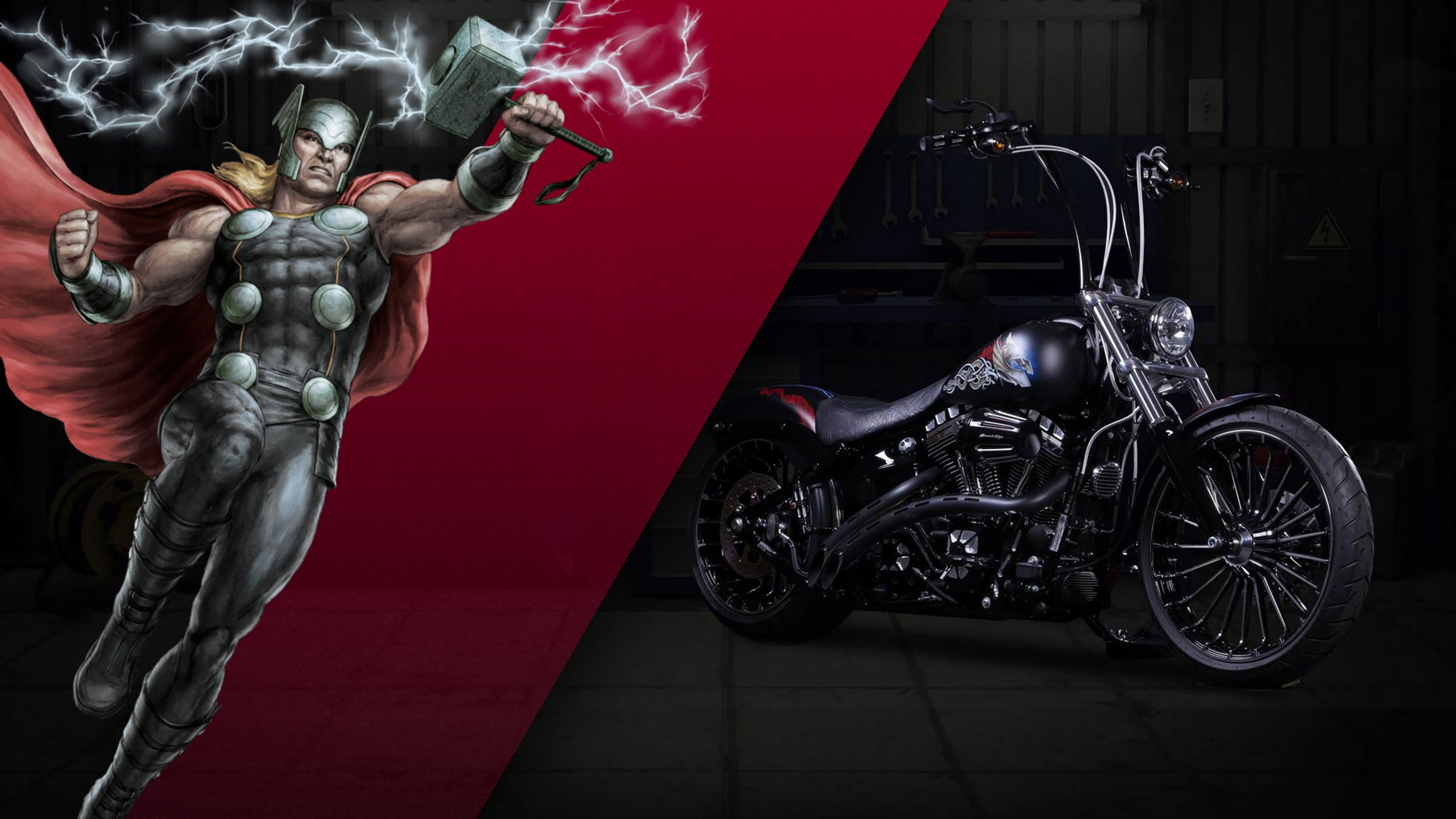 Bmw Car And Bike Wallpaper Marvel Superhero Harley Davidson Bikes Surface In The Land
