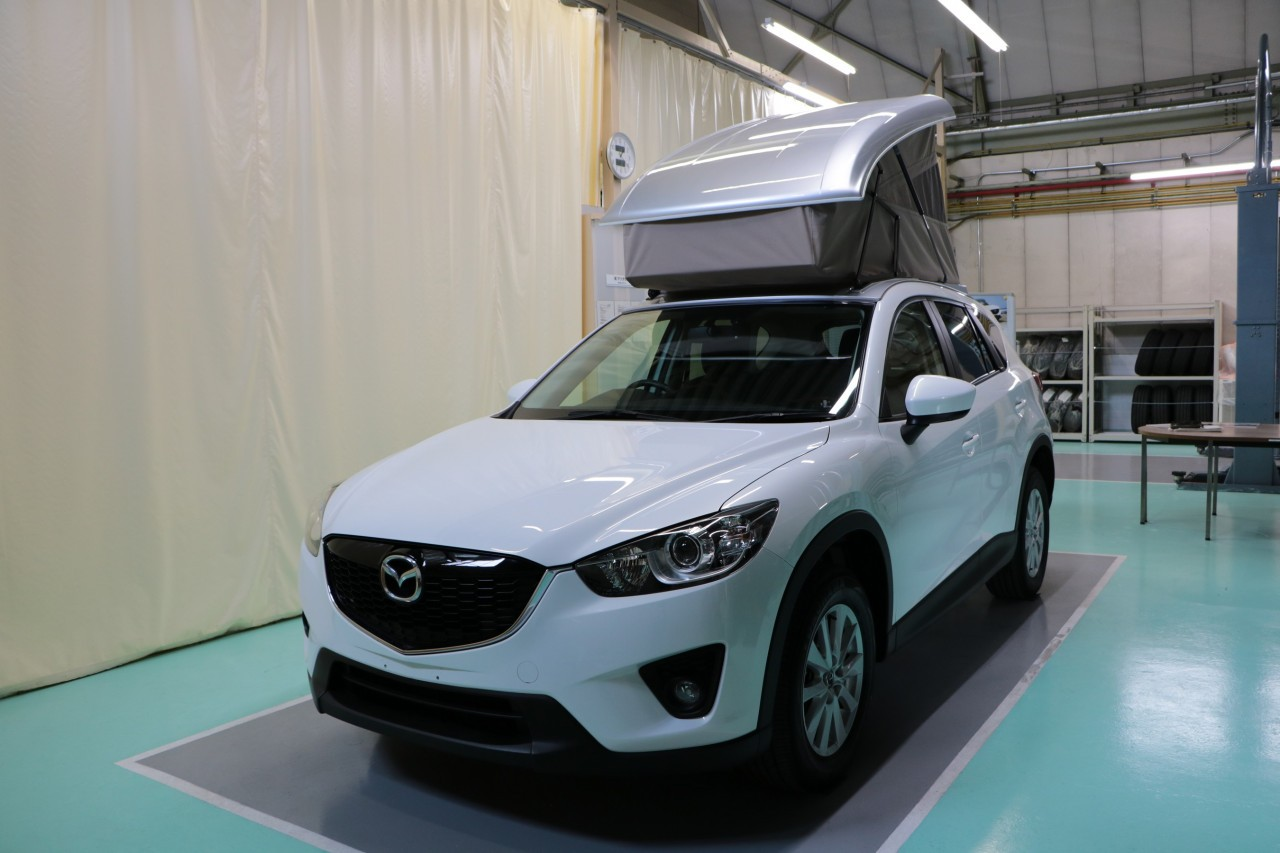 Camper Car Mazda Cx-5 Gets Pop-up Camping Tent In Japan - Autoevolution