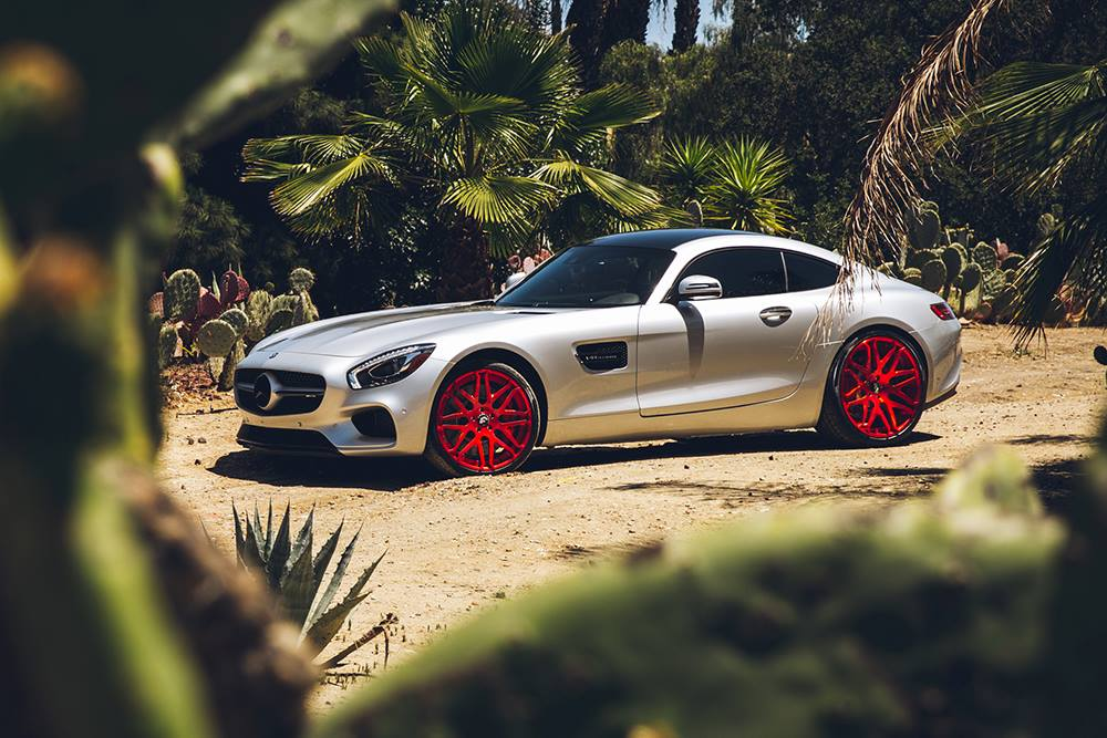 Boys Car Wallpaper Mercedes Amg Gt Gets Candy Red Forgiato Wheels Autoevolution