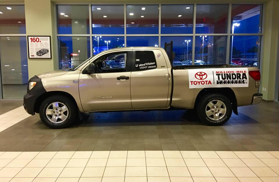 this toyota tundra pickup truck racked up 1 million miles still going strong