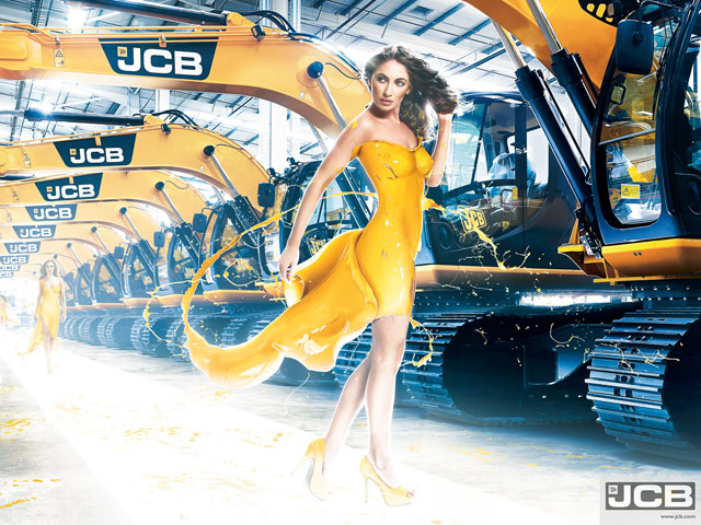 Unique Girl Wallpaper Of Girls And Excavators 2013 Jcb Calendar Autoevolution
