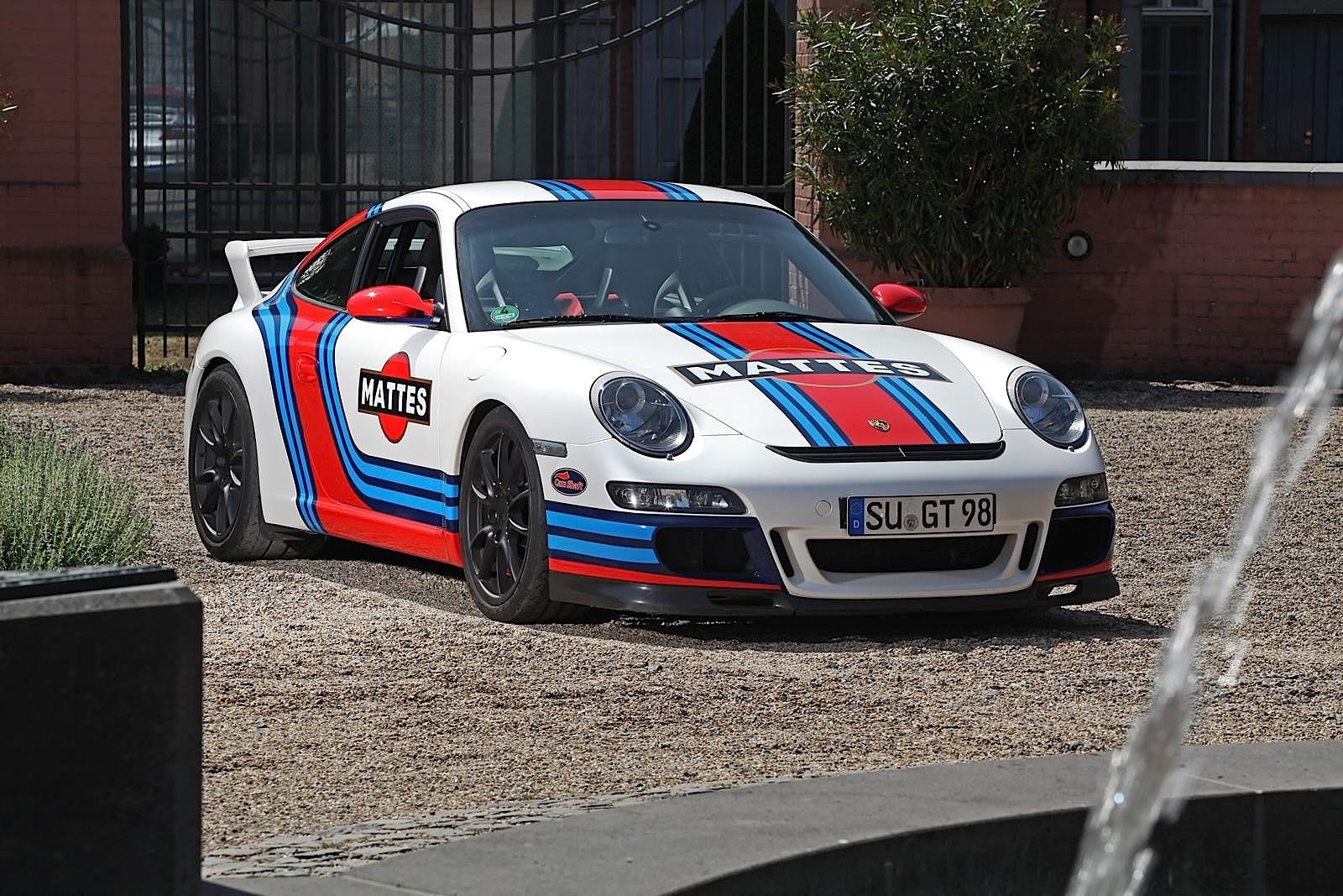 German Car Wallpaper Porsche 911 Gt3 997 Gets Martini Livery Via Cam Shaft