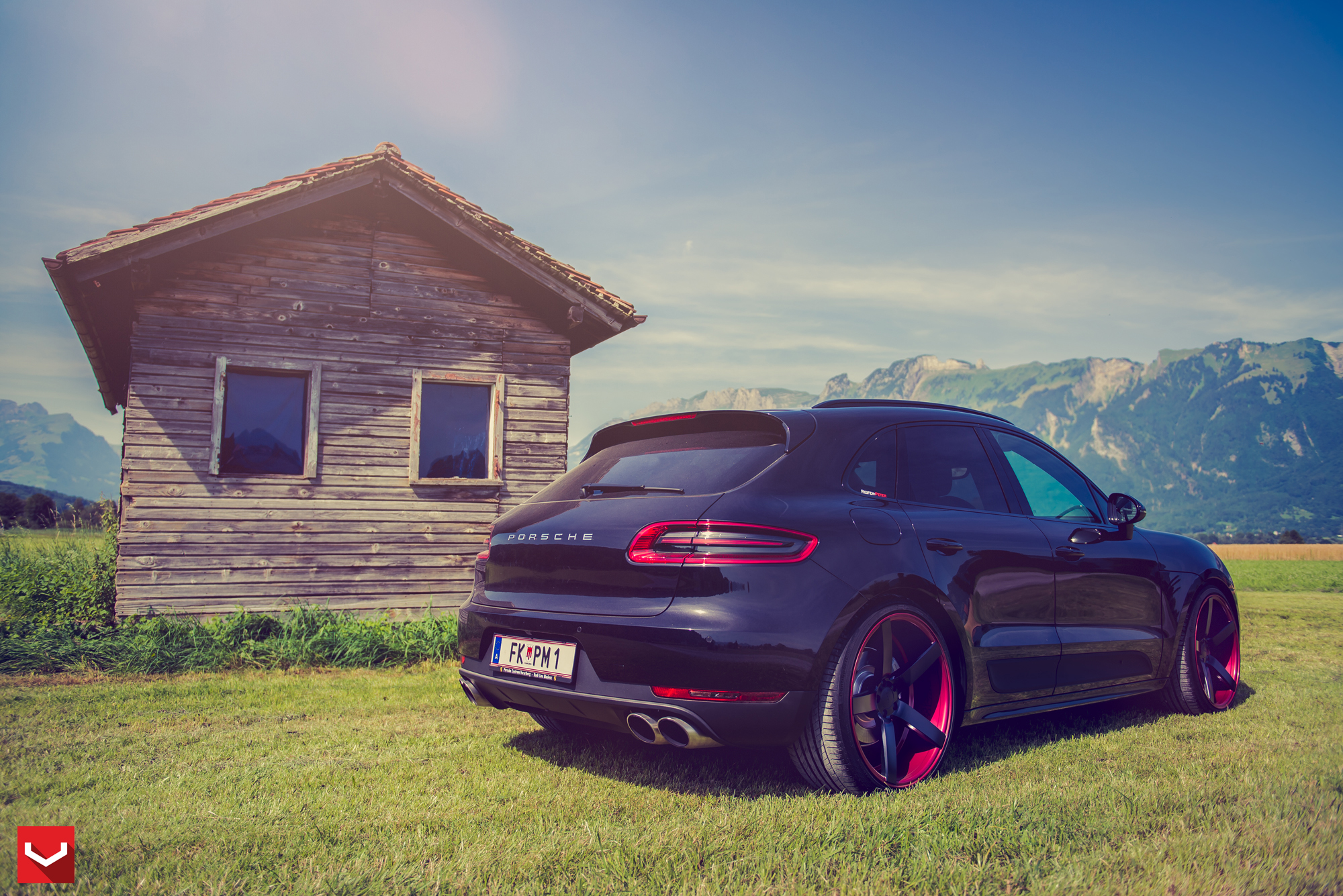 Tuner Car Wallpaper Hd Porsche Macan Stanced On Custom Vossen Wheels Autoevolution