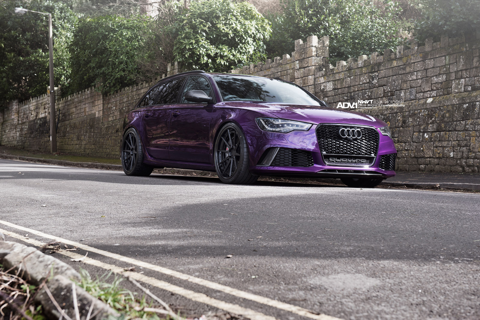 Audi A6 Wallpaper Hd Purple Sled Audi Rs6 Avant On Adv 1 Wheels Autoevolution