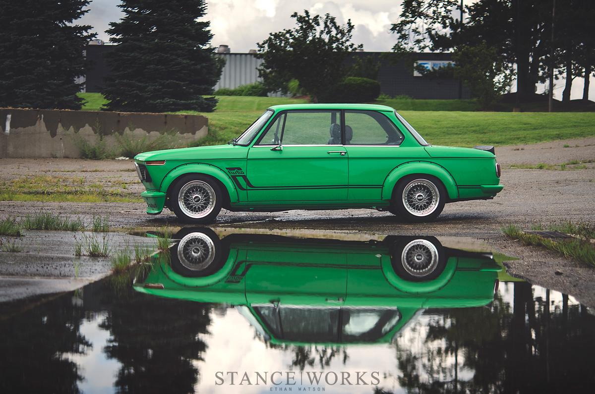Slammed Car Wallpaper Signal Green Bmw 2002 Turbo Is A Work Of Art Autoevolution