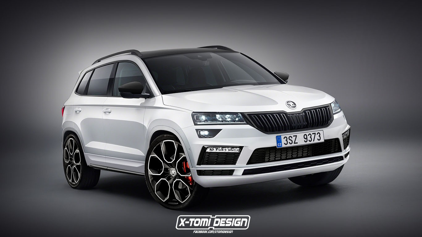 Child Car Seat News Skoda Karoq Rs And Monte Carlo Trims Rendered Autoevolution