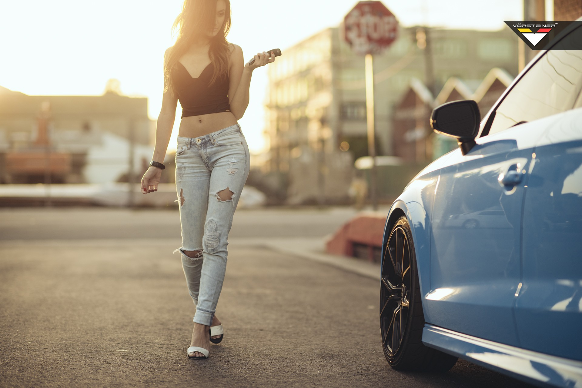 Camaro Girl Wallpaper Sky Blue Audi S3 Sedan On Vorsteiner V Ff 103 Wheels In