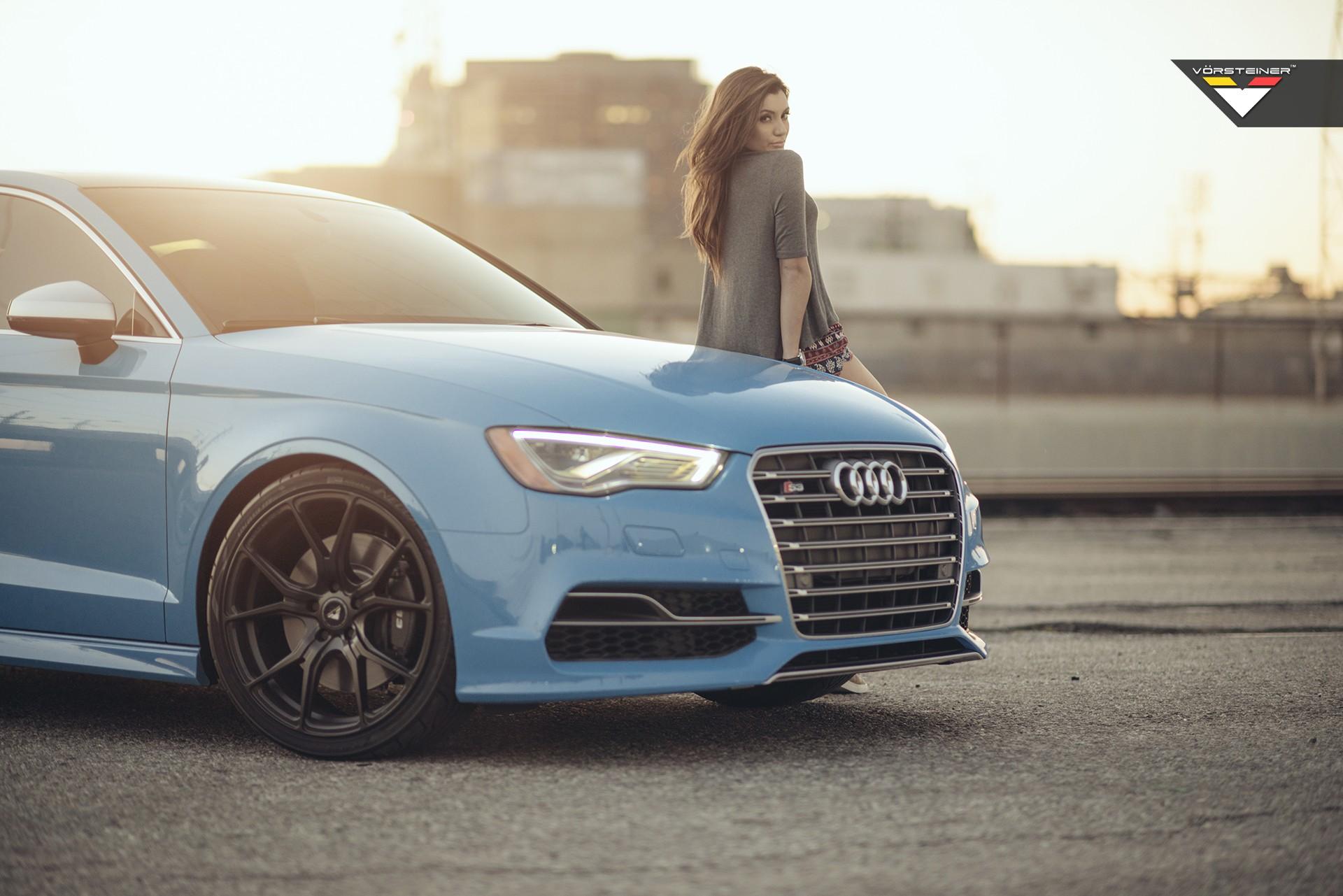 Audi S3 Wallpaper Girl Sky Blue Audi S3 Sedan On Vorsteiner V Ff 103 Wheels In