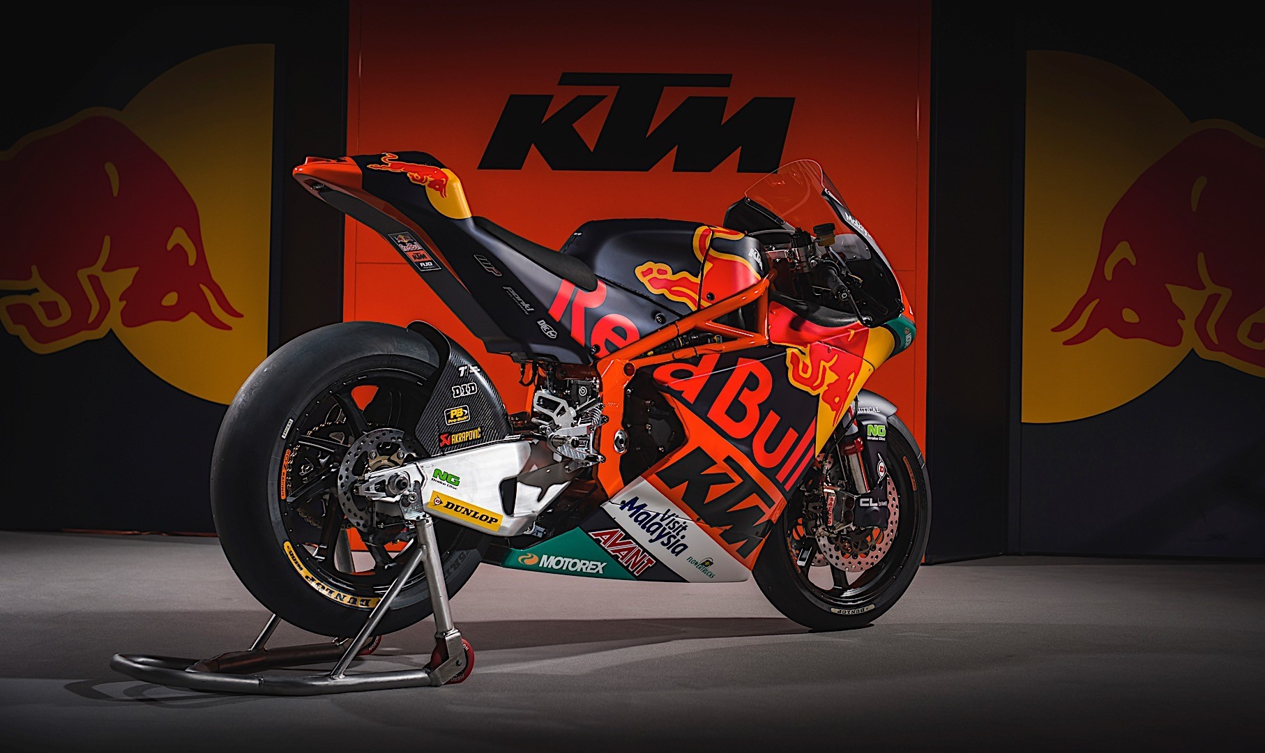 Ktm Motocross Wallpaper Hd This Is Red Bull Ktm S New Motogp Motorcycle In Final Form