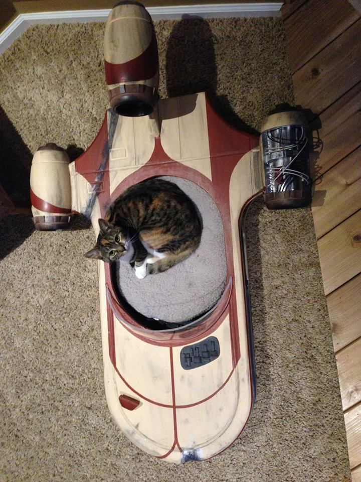 Audi Car Logo Wallpapers Star Wars Landspeeder Is The Best Cat Bed Ever Autoevolution