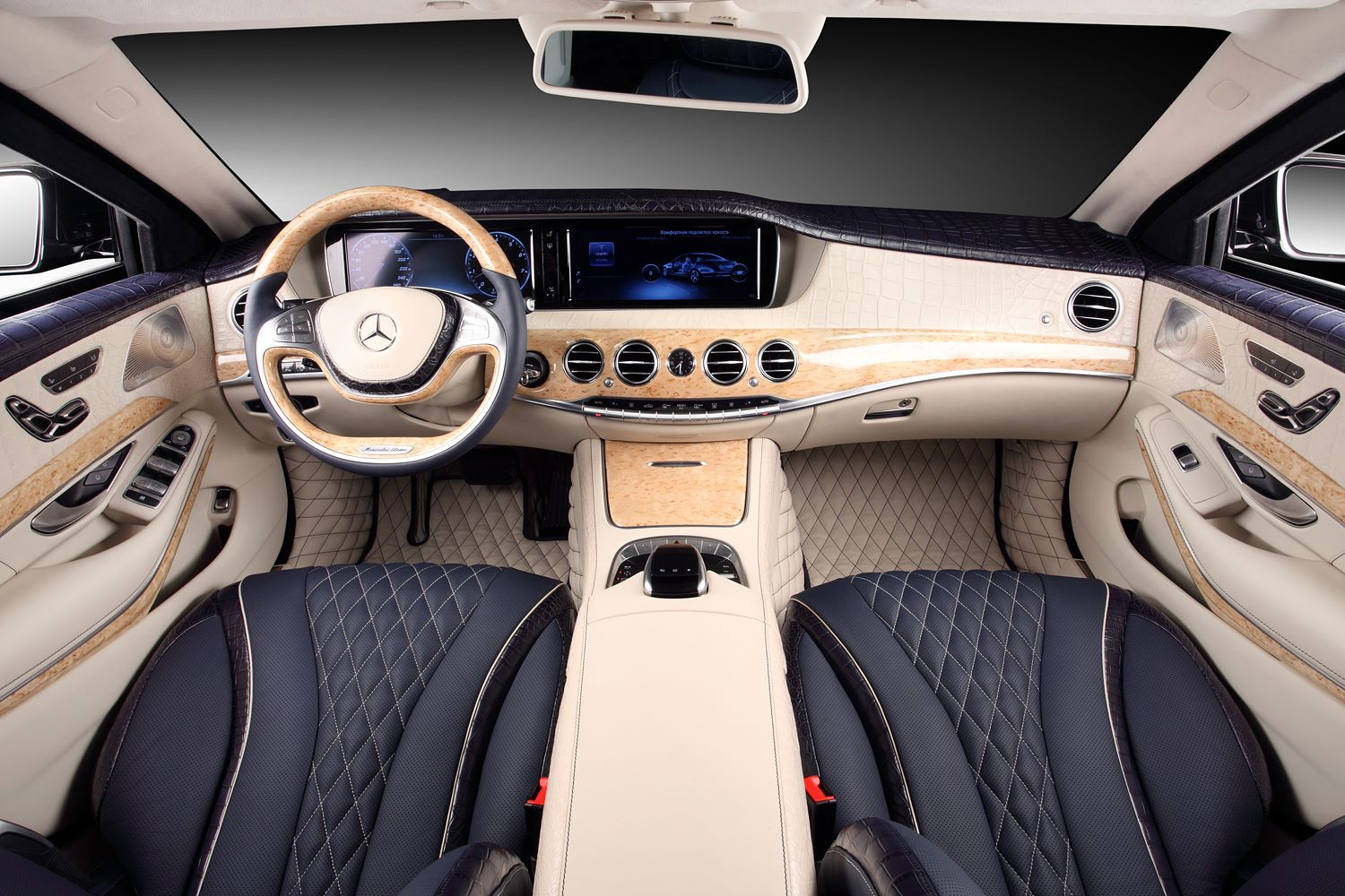 Mercedes C Interieur W222 Mercedes S-guard Interior Wrapped In Crocodile