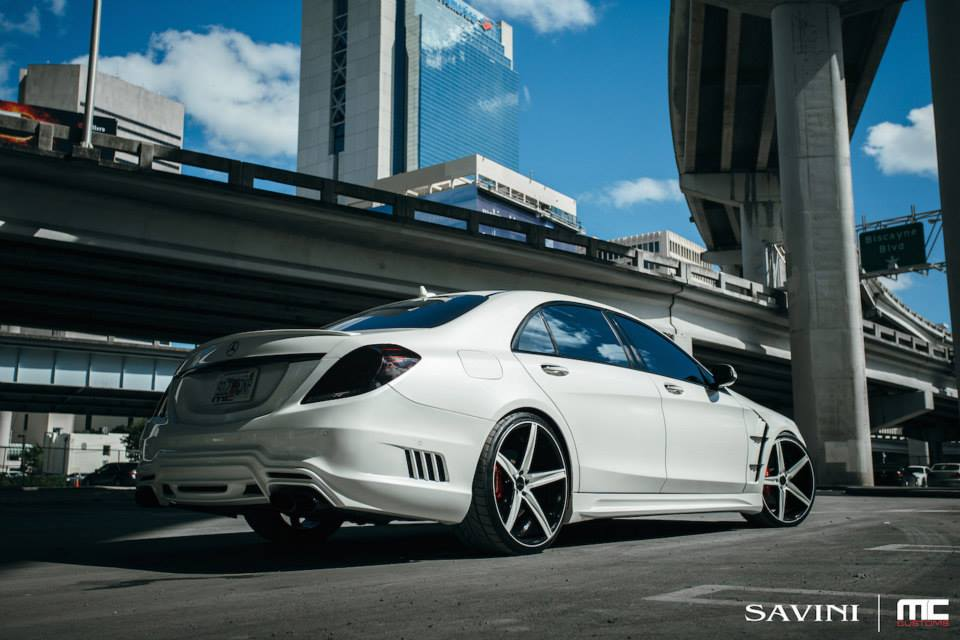 Mercedes Baby Grow White Mercedes S550 Gets Wald Body Kit And Savini Wheels